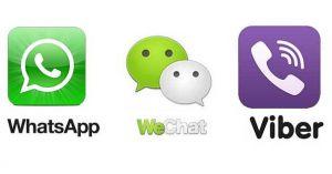 WhatsApp Viber WeChat