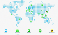 messaging app map