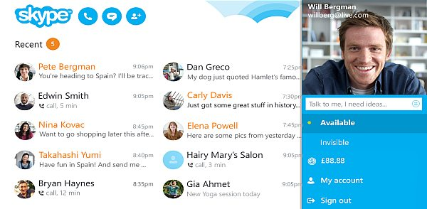 Say Hello to new Skype App