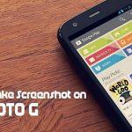 Taking a Screenshot on the Moto G Smartphone