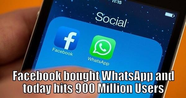 Facebook WhatsApp  Million Users