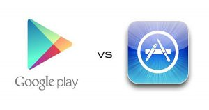 google market vs apple itunes