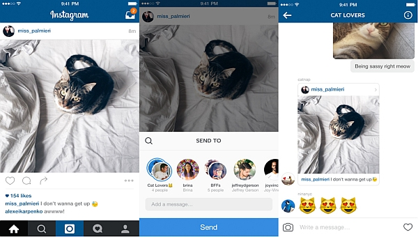 Instagram Direct app