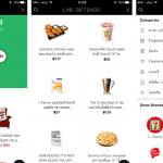 Line Messenger App and the new Gift-Goods Shop