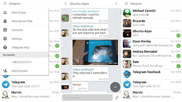 Major Telegram Update Launched for Ubuntu Smartphones