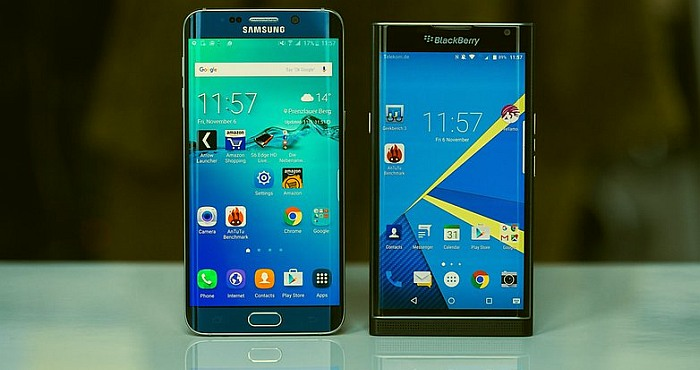 Samsung Galaxy S6 Edge vs BlackBerry Priv
