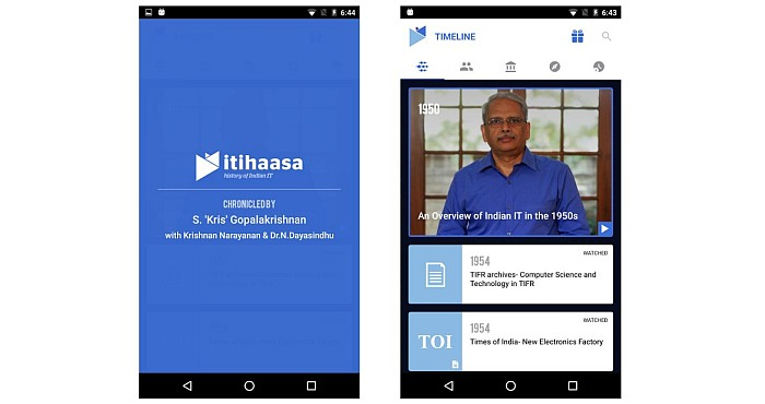 Itihaasa: Indian IT History App for iOS and Android