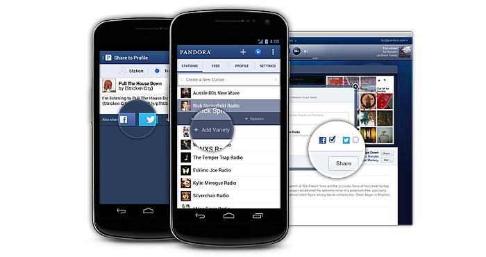 Useful features supported by the Pandora Radio App