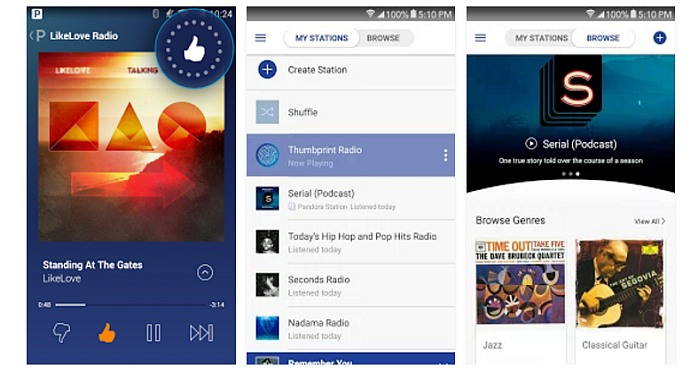 Download Pandora Internet Radio App and enjoy Free Music