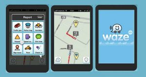 Waze traffic navigation app