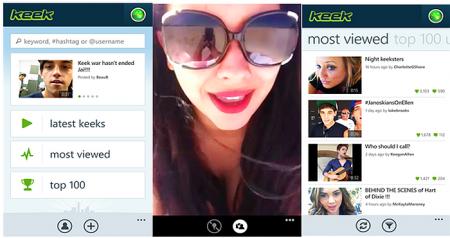 How Keek 'Social Video' App works