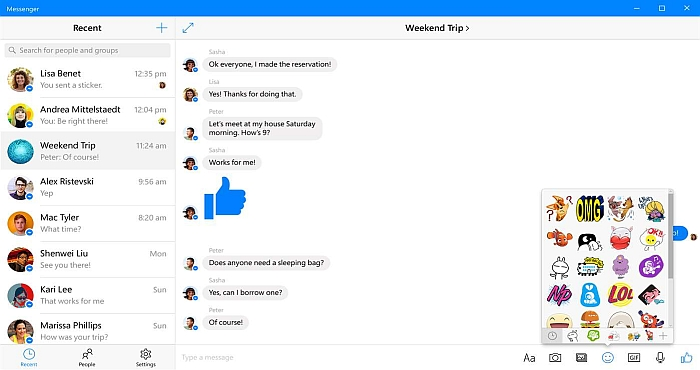 Windows Store gets new Facebook Messenger