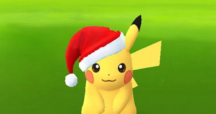 Download Pokémon Go game and Discover Pikachu with Santa's Hat