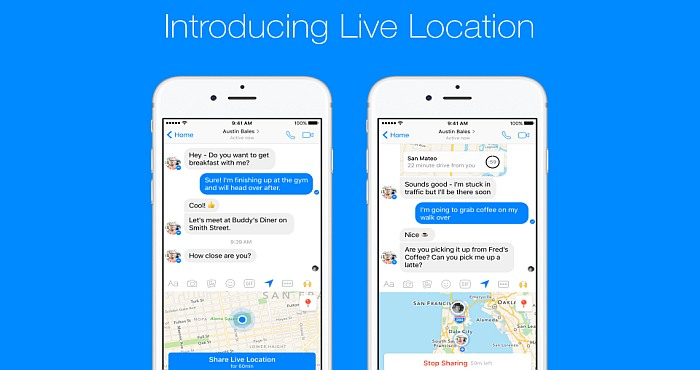 Download Facebook Messenger and Discover Live Location Feature