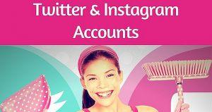 Twitter Instagram clean up