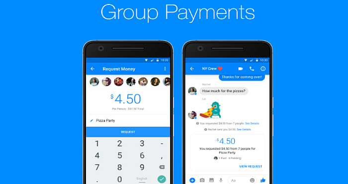 Now Facebook Messenger supports Group Payments for all