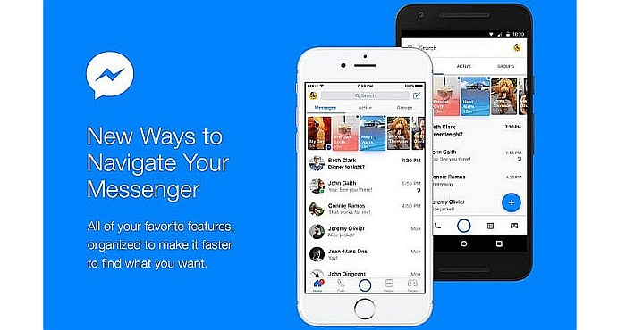 Facebook updated it Messenger App to improve navigation and communication