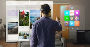 Microsoft portable holographic glasses