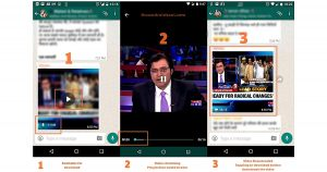 WhatsApp stream video