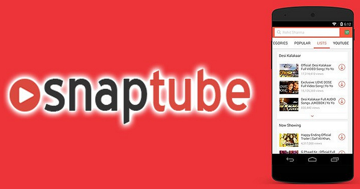 snaptube video music