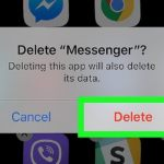 How To Delete Facebook Messenger on iOS