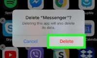 How To Delete Facebook Messenger on iOS delete Facebook Messenger iOS 11