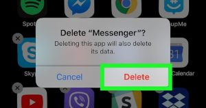 How To Delete Facebook Messenger on iOS delete Facebook Messenger iOS 2