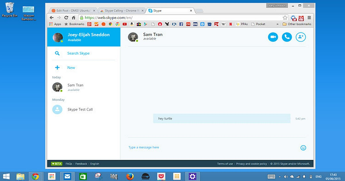 Skype Limits Updates of its Web-Targeted Version skype web version 1