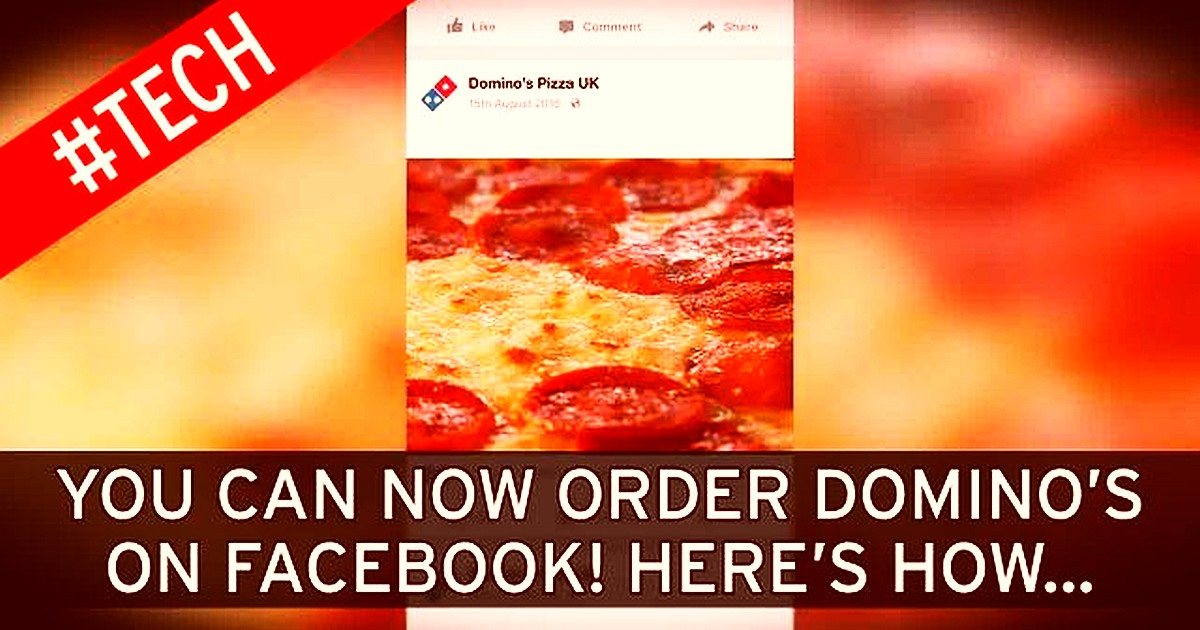 Order Pizza, Send Flowers and Pay with Amex with Facebook Messenger App facebook messenger app order pizza 1